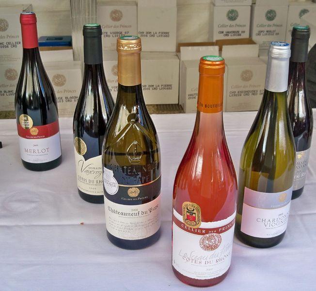 vin en bouteille
