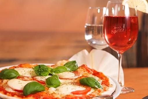 pizza et vin