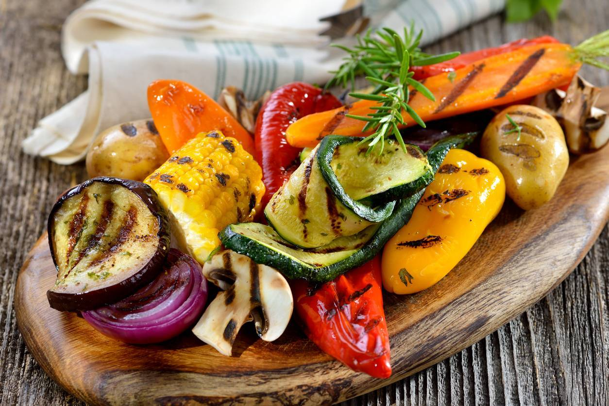 les légumes fumés au fumoir